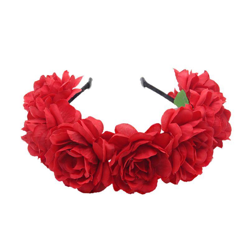 Floral Summer Beach Vacation Flower Garland Hair Band Headband Wedding Wreath