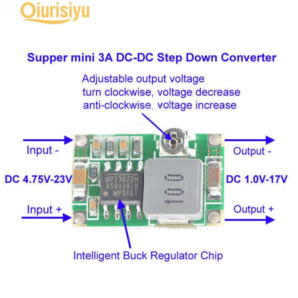 3A Mini DC-DC step down converter volt regulator 5V-23V to 3.3V 6V 9V 12V  X:o