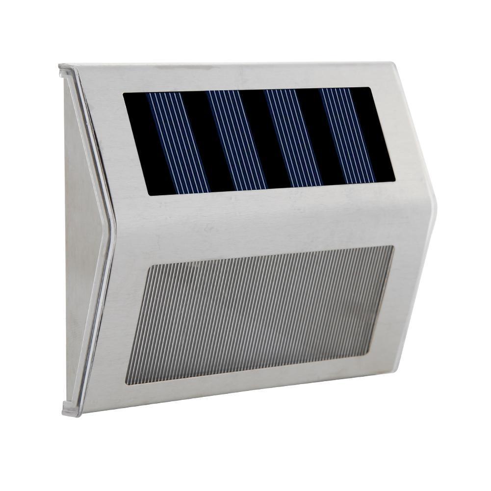 Stainless Steel 6LED Solar Stair Light Waterproof Outdoor Garden Pathway Lamp