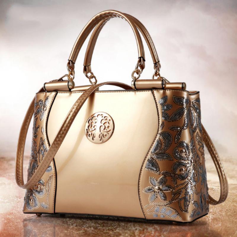 Женщина старинные тиснением кожа случайные плечо сумка элегантный сумочка – купить по низким ценам в интернет-магазине Joom