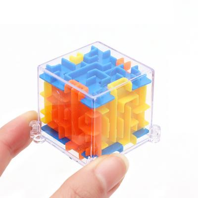 Magic Cubes Puzzles & Games Bright 3 Colors Puzzle Maze Toy Brain Game Challenge Fidget Toys Balance Educational Toys Keychain Kids Toys Gift Magic Cubes Refreshing And Beneficial To The Eyes