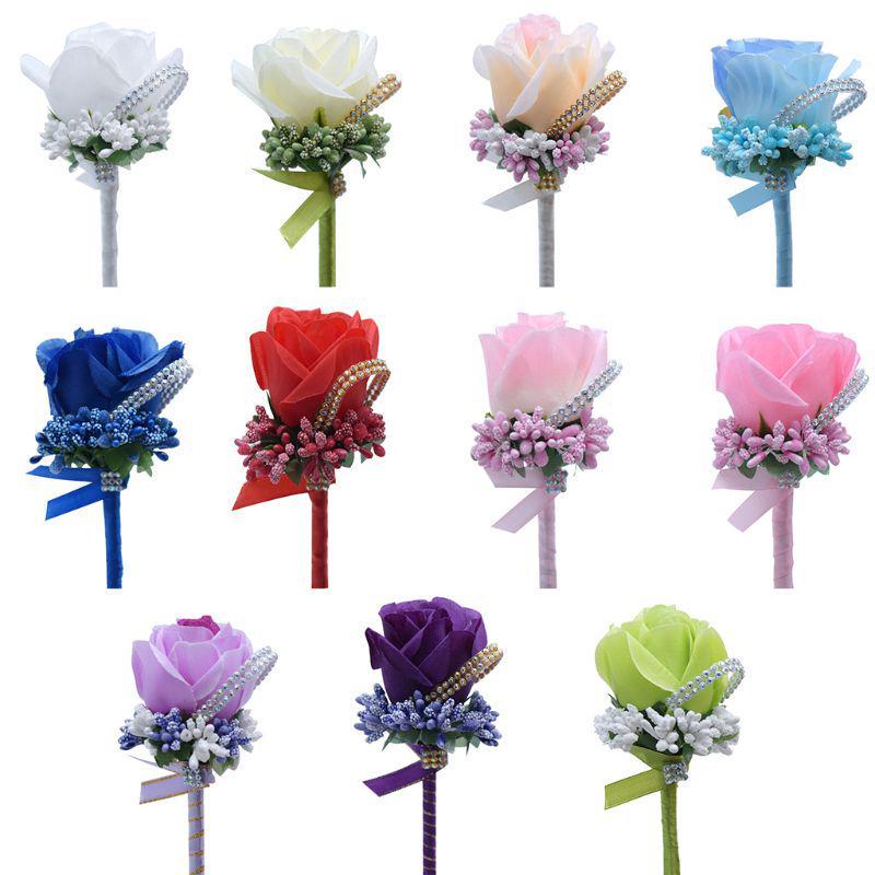 5 inch JEWELED Tropical Silk Flowers----Cream---Set of 2