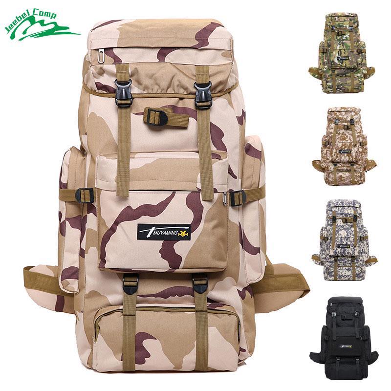 70L Big Capacity Outdoor Sports Bag Waterproof Nylon Hiking Tactical Backpack