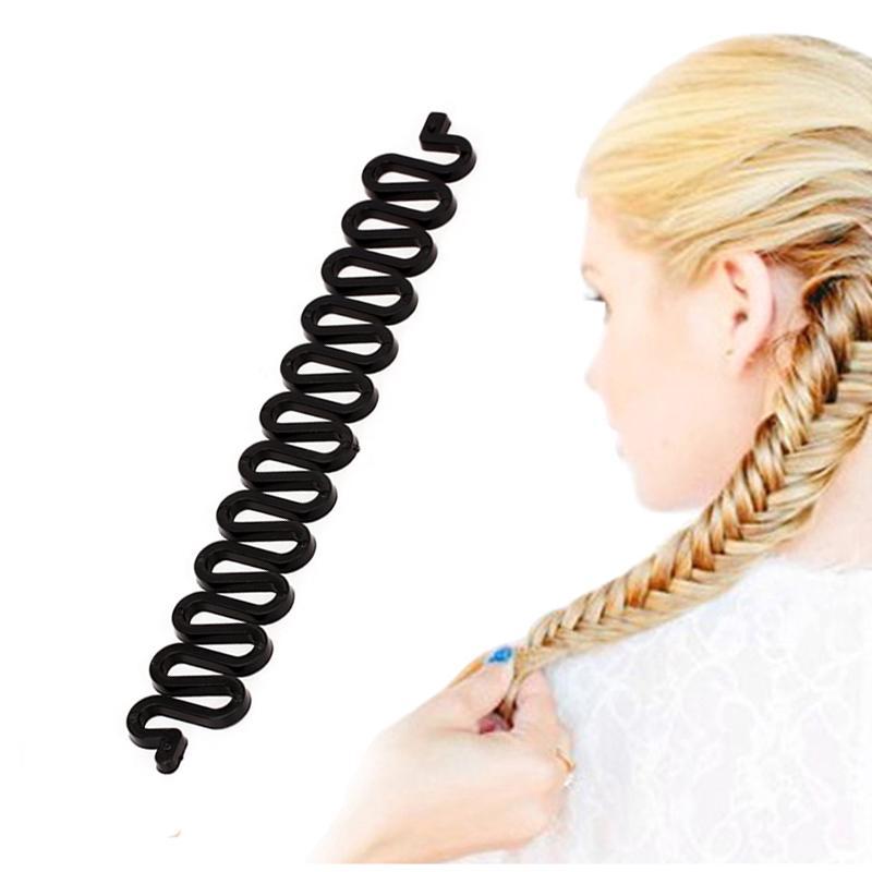 1pcs Women Makeup Stylish Tool Hair Curler Braiding Roller Hook Twist Band New