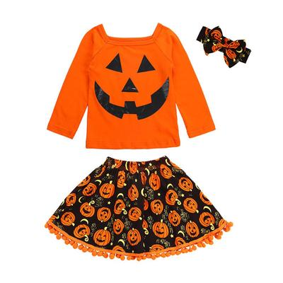 Toddler Baby Kid Girl Halloween Nightmare Print Romper+Tutu Skirt Costume Outfit