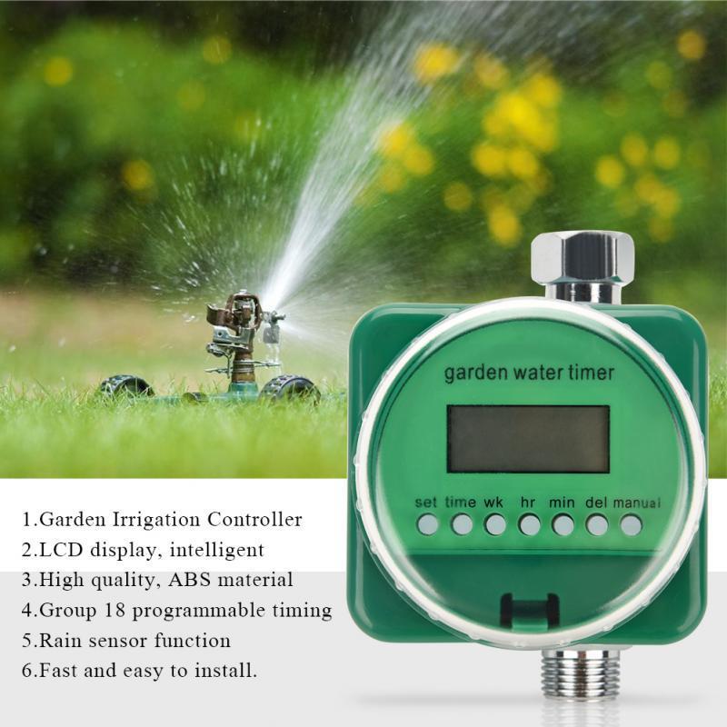 Rain Sensor Lcd Display Automatic, Garden Water Timer