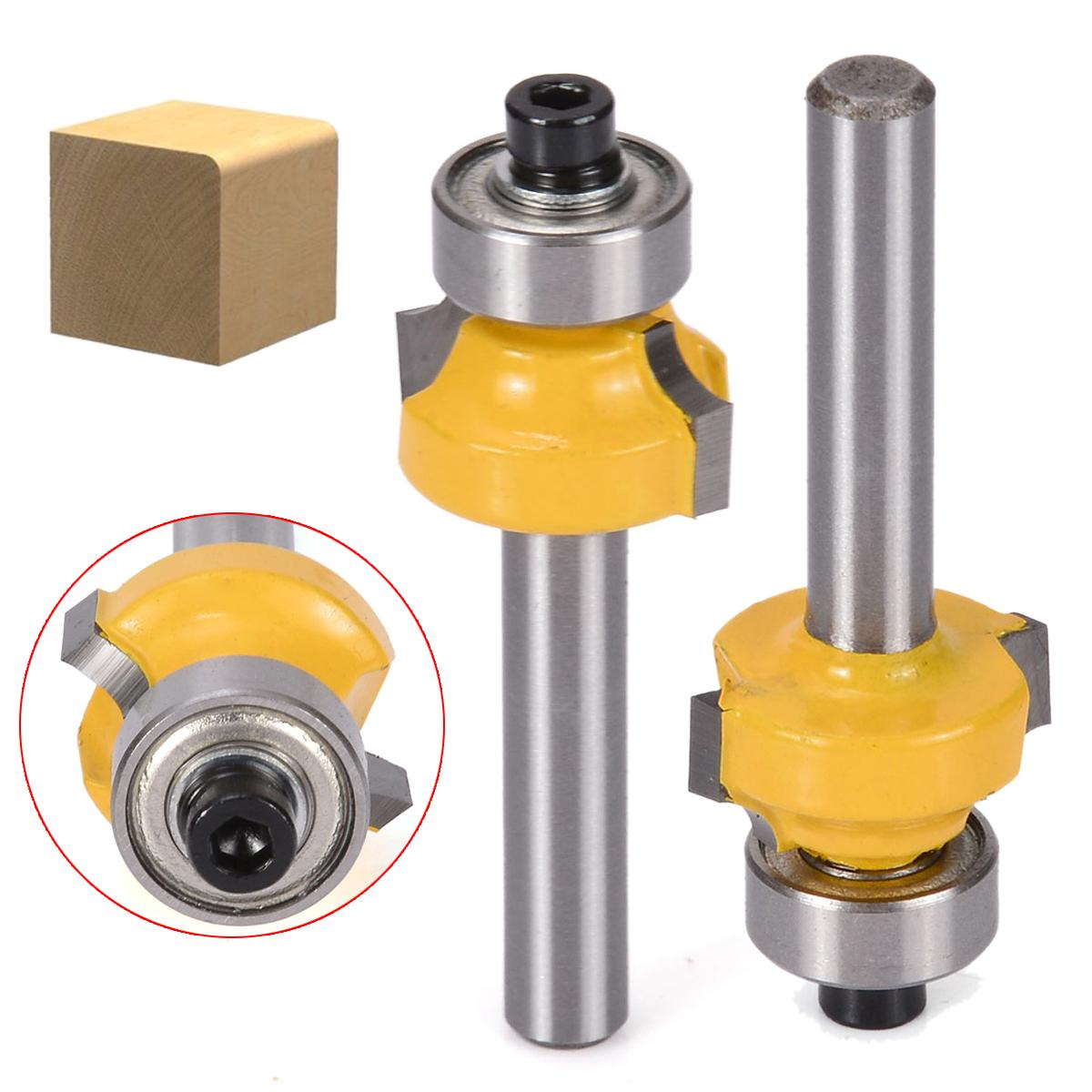Idh 1/4inch Shank Round Over Edging Router Bit 1/8 Radius Carbide Cutter Woodworking
