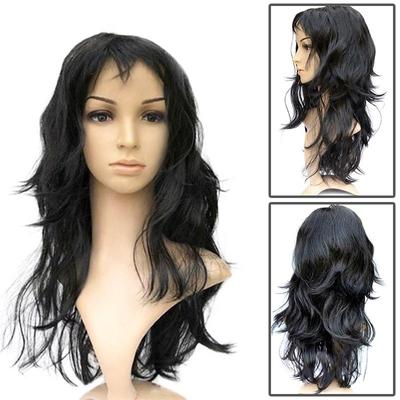 Women s Long Curly Fancy Dress Wigs Black Cosplay Costume Ladies Wig Party 12f8b4607a