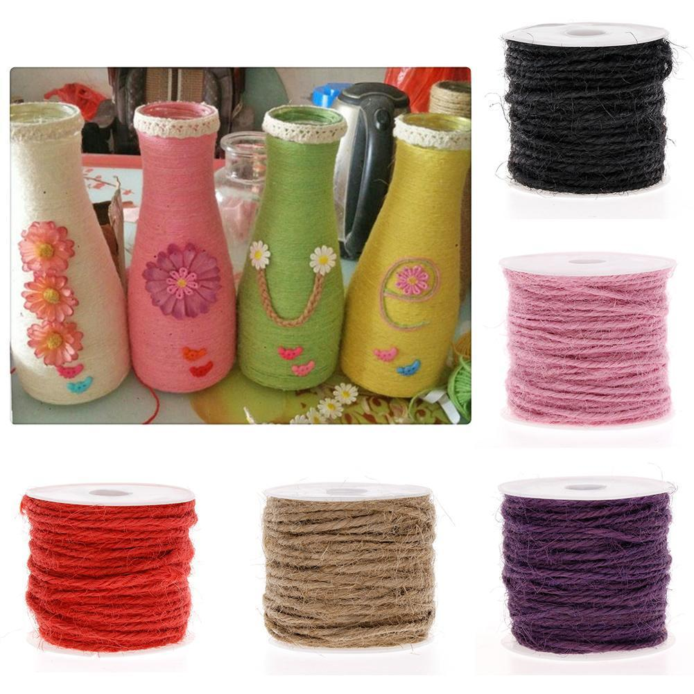 COLOURED NATURAL HESSIAN STRING CORD ROPE 2MM X 10M 6 COLOURS ARTS /& CRAFTS