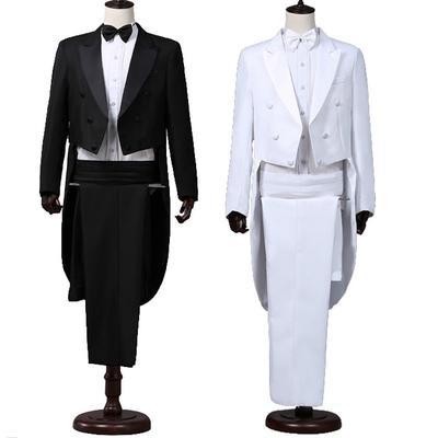 a6ce956a0 Traje de esmoquin y pantalón de cola de los hombres conjunto formal de  negocios vestido de fiesta traje de novia trajes trajes
