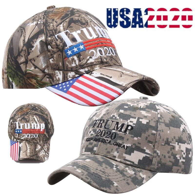 Trump 2020 MAGA Camo Caps Embroidered Hat Keep Make America Great Again Cap