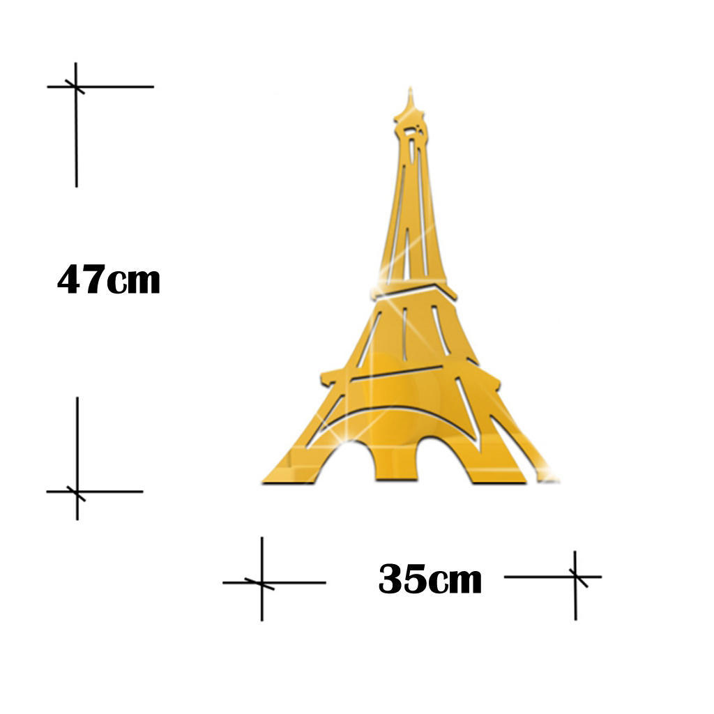 2x Eiffel Tower Removable Mirror Decal Wall Decor Art Mural Stickers ...
