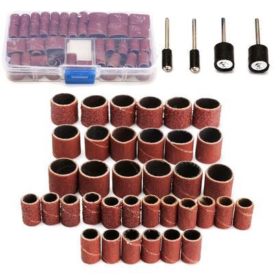 2Pcs Sand Mandrels 1//8 Compatible for Rotary Tool Grit 150# 100Pcs Drum Sanding Kit Wheel Set Dremel Accessories 1//2 14mm