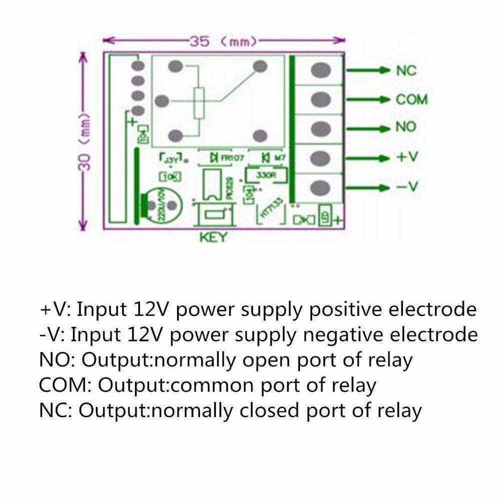 Diy Integrated Circuits 12v 1ch 10a Receiver Module Rf Switch Normally Open Relay Diagram 1 Of 8
