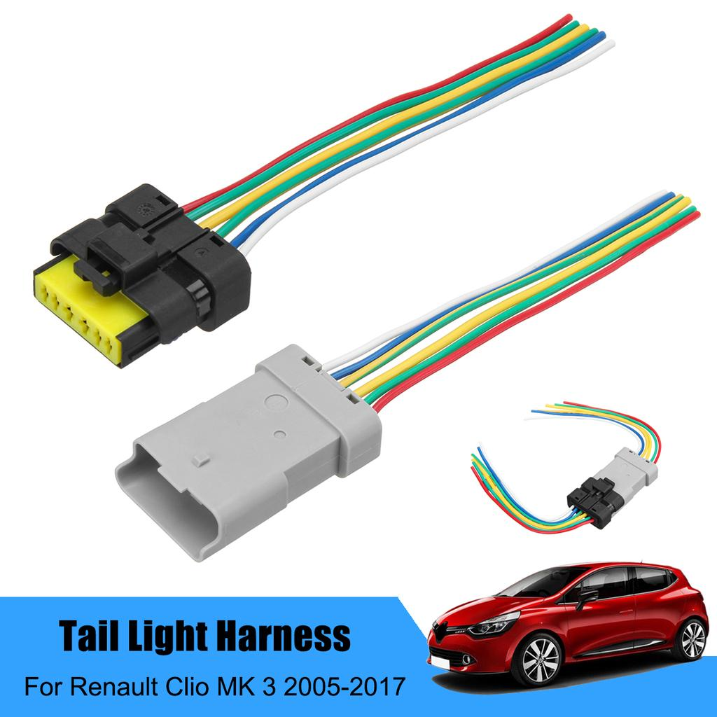 Tail Light Wiring Harness Adapter Connector For Renault Clio MK 3 Plug  Pigtail-buy at a low prices on Joom e-commerce platformJoom
