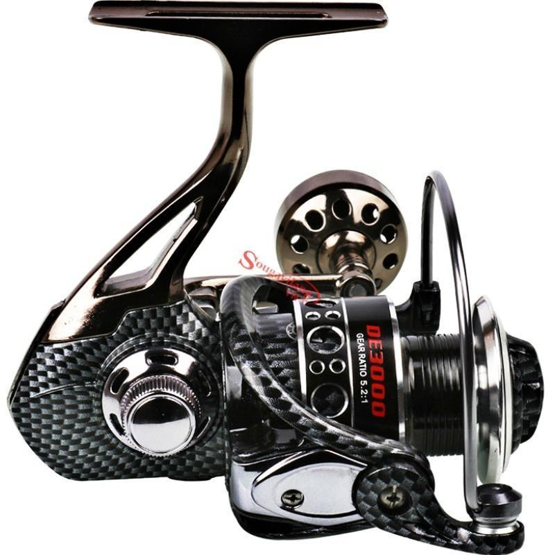 Saltwater Reels 12+1BB Fishing Reel 5.2:1Right// Left Hand Spinning Fishing Wheel