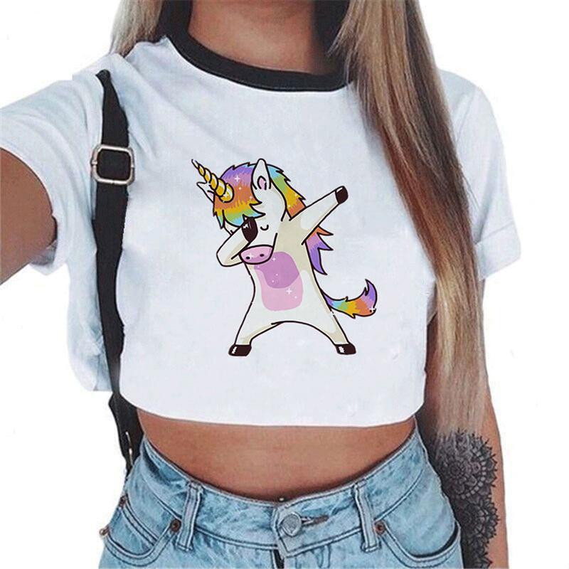 Super Cute Unicorn Boys Summer Slim Fit Pure Color Short Sleeve Casual T-Shirts