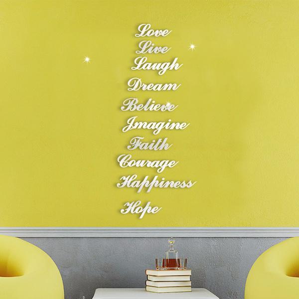 Funky Live Laugh Love Dream Wall Decor Adornment - Wall Art Design ...