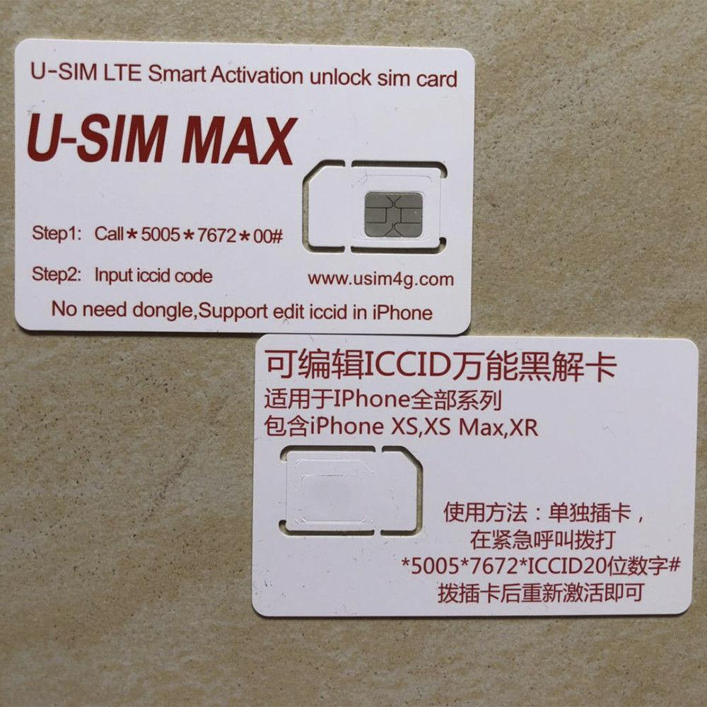 USIM MAX for iPhone XR/XS/X/8/8p/7/7p/6s/6sp 4G R-sim Nano Unlock Card Ios  12