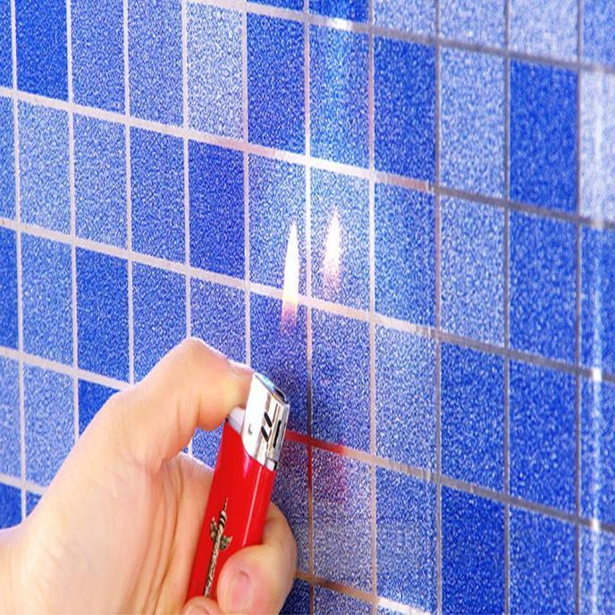 Self Adhesive Wallpaper Waterproof Scrub Mosaic Wall Tile Stickers Bathroom