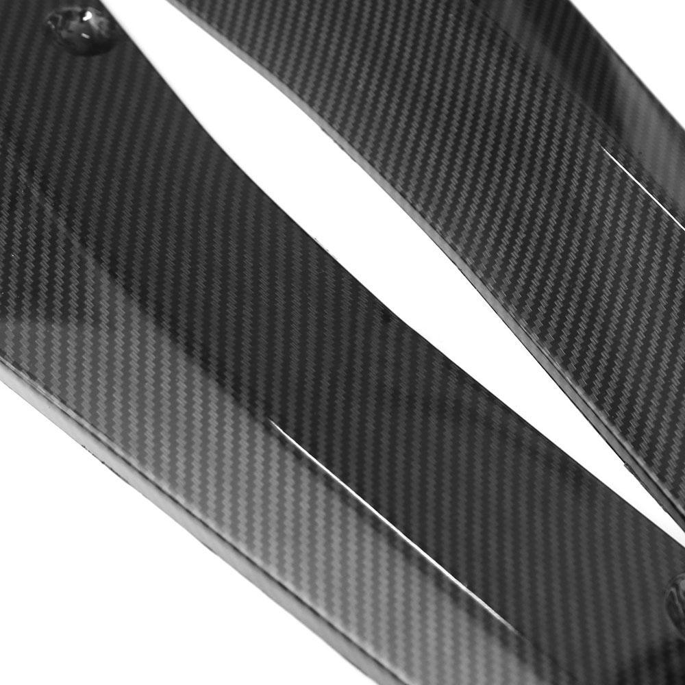 2x Carbon Fiber Style Car Spoiler Rear Lip Canard Diffuser Wrap Angle Shovel