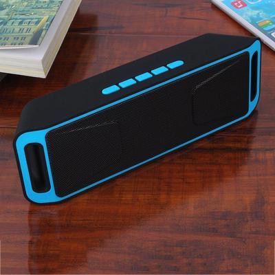 Portable Bluetooth Speaker Wireless Mini Speaker Amplifier Stereo Subwoofer Speaker TF USB FM Radio Built-in Mic Dual Bass SP208