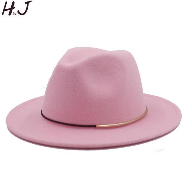 5980a8da3c20e Wool Women Men Jazz Hat For Lady Male Winter Autumn Floppy Cloche ...