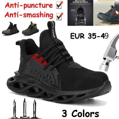 NEW Fashion Steel Toe Shoes Kevlar