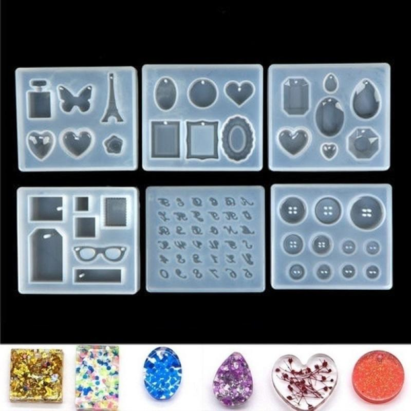 1Pc Resin Mould Making DIY Mold Smooth Comb Crystal Cartoon Silicone 0U