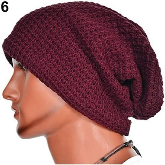Herren Winter Baggy Cap Casual Warm Keeper Beanie stricken häkeln ...