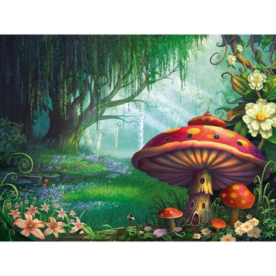 Diamond Painting Forest Mushroom Magical Lights Design Embroidery House Displays