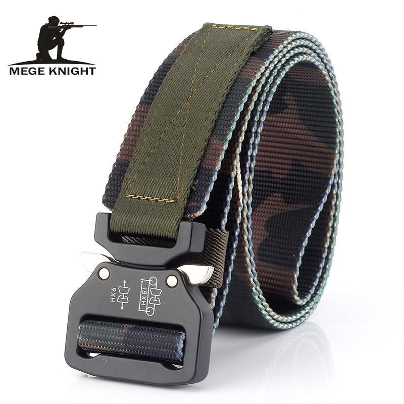 "49.2/"" Men Tactical Buckle Belt Waistband Tactical Rescue Rigger Tool Nylon Belt"