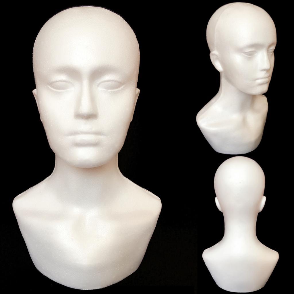 Polystyrene Female Foam Mannequin Head Display Model Dummy Female Wigs Stand