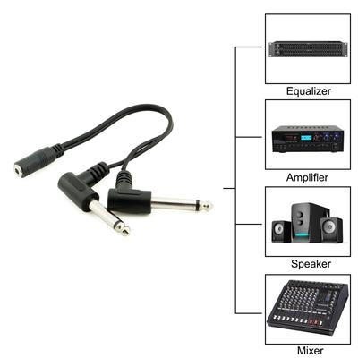 Cable Length: Other Computer Cables 6.35mm 1//4 Inch Stereo Plug to 2 RCA Jack Splitter Adaptor 6.35mm Female to 3.5mm Male Gold Audio Stereo Converter -