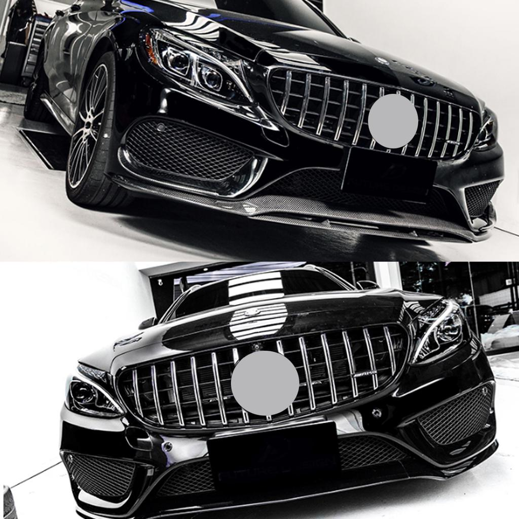Front Hood AMG Style Grill for Mercedes Benz W205 C250 C350 AMG Bumper 2015-2018