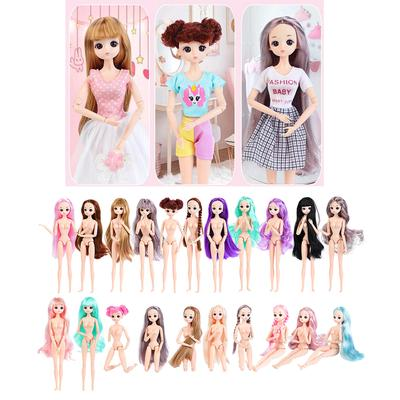 """12/"""" 1//6 Scale Flexible BJD Ball Jointed Doll Body with Hair Doll Making"""