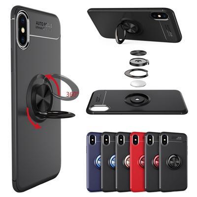 a4633ad5260 Teléfono a prueba de choques magnético giratorio soporte suave TPU para  iPhone 8 Plus/Samsung