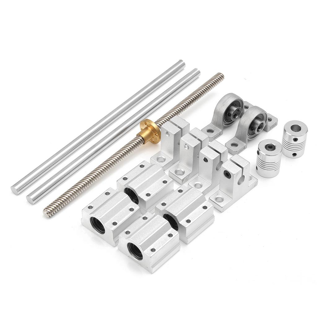 Dual Rail Support 8mm Lead Rod 20cm Axis Bearing Shaft Horizontal Set