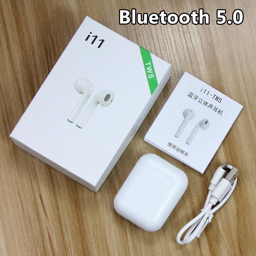 I11 TWS Беспроводные Bluetooth наушники 5.0 Стерео спортивные наушники наушники наушники наушники наушники с микрофоном Handsfree для Android / IOS фото