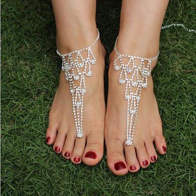 Pearl Barefoot Sandal Anklet Foot Chain Toe Ring Beach Summer Ankle Bracelet Hot