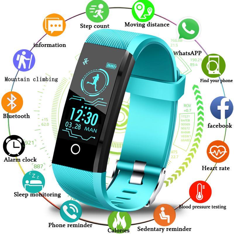 LIGE Новый смарт-браслет Кровяное давление Сердце монитор Монитор Фитнес-трекер Смарт-браслет Band Sport Watch для IOS Android-Box