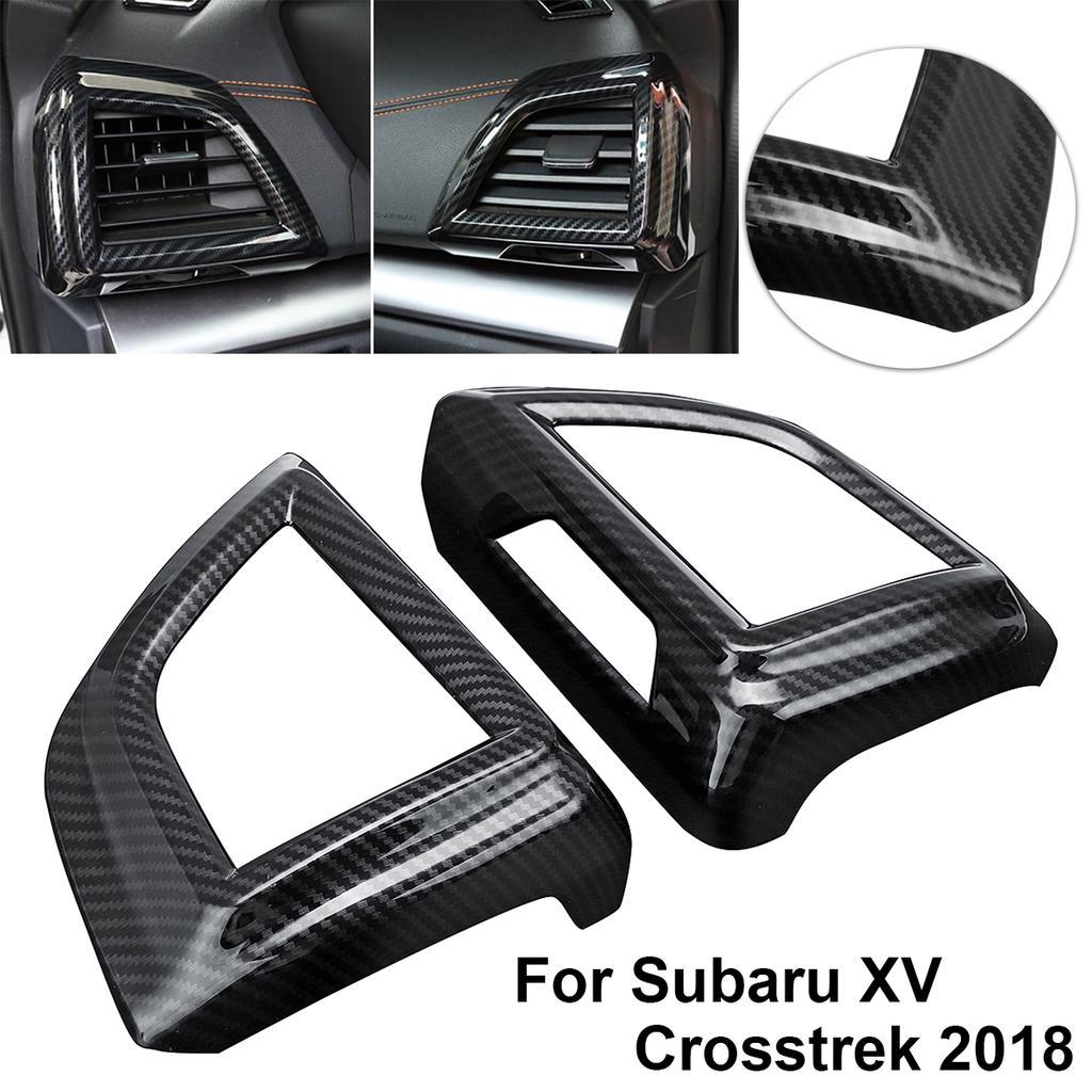 Carbon Fiber Look Car Dashboard Side Air Vent Cover For New Subaru XV Crosstrek
