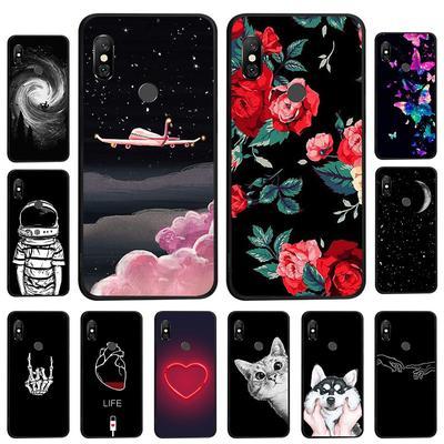 Case For Xiaomi Mi A2 A3 Lite Xiaomi Redmi S2 Note7 Meizu M6T 16 X Cover Black Painted Phone Bag