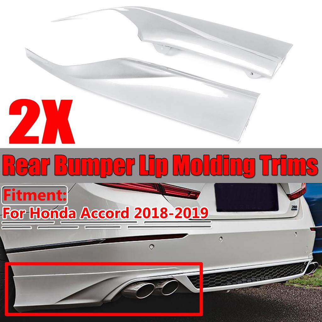 2X Rear Bumper Lip Diffuser Splitter Canard Protector For Honda Accord 2018 2019