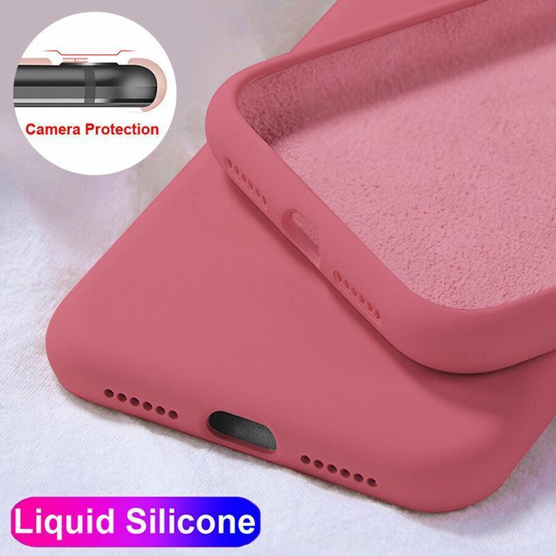 Liquid Силиконовая резина ударопрочный корпус для Samsung Galaxy A51 A81 A91 A31 A41 A21S S20 Ultra Plus Note 10 фото