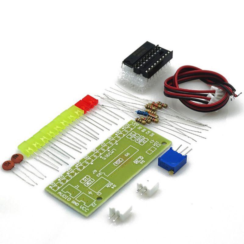 Flash Light Kits 18 LEDs Heart-Shaped Red Flashing Electronic Parts Gift HC