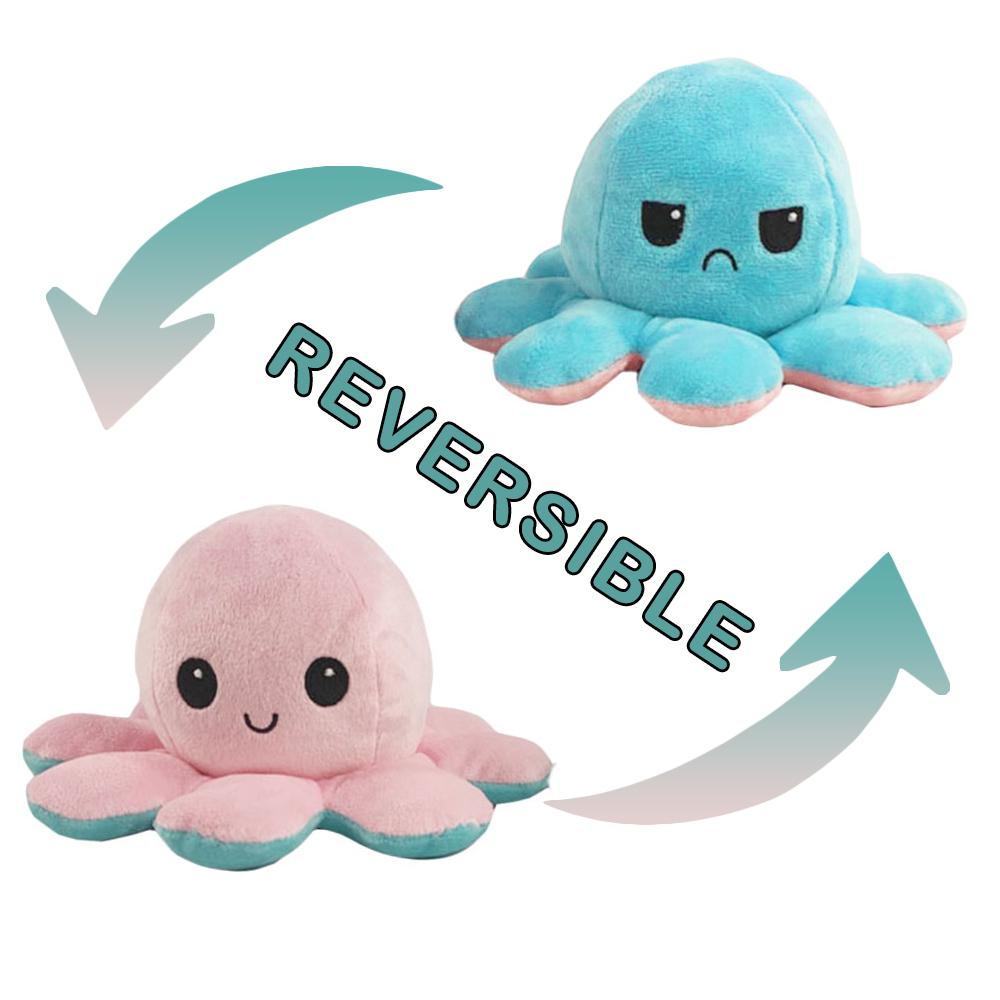 Reversible Octopus Toy Colorful Plush Doll Stuffed Plushie Family Pendant  for Baby Kids Children Gift-buy at a low prices on Joom e-commerce platform