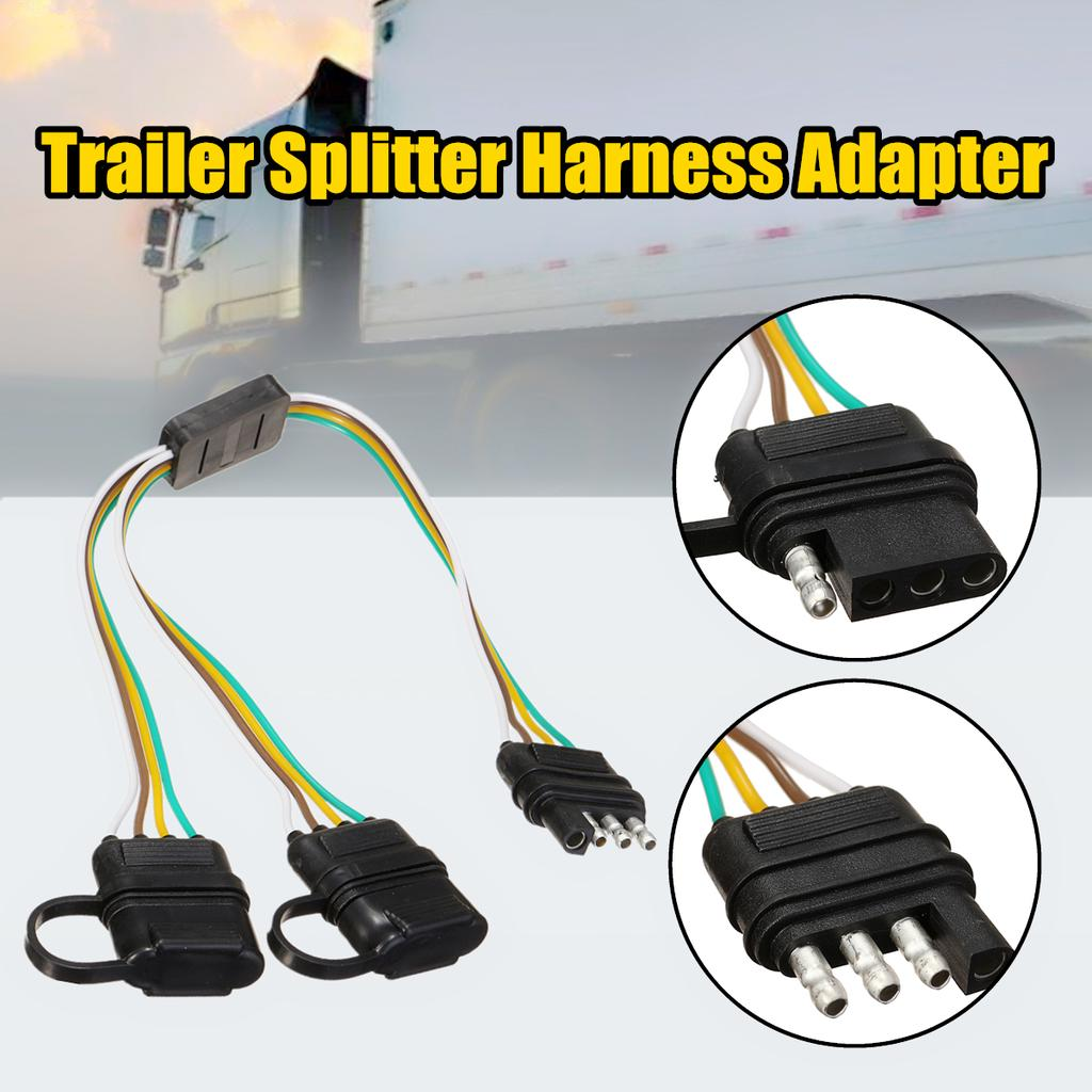 Buy LED Y-Split 2-Way 4 Pin Male & Female Connector Trailer Splitter Harness  Adapter at affordable prices, price 9 USD — 📦free shipping, ⭐real reviews  with photos — Joom | Split 4 Pin Trailer Wire Harness |  | Joom