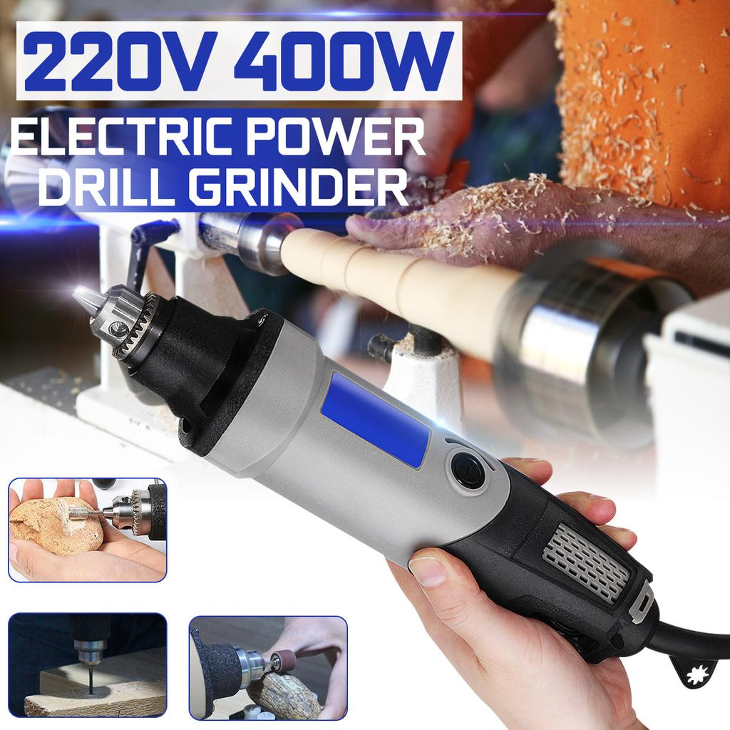 400W 28000rpm Electric Die Grinder Buffing Mini Drill 6 Variable Speed Rotary