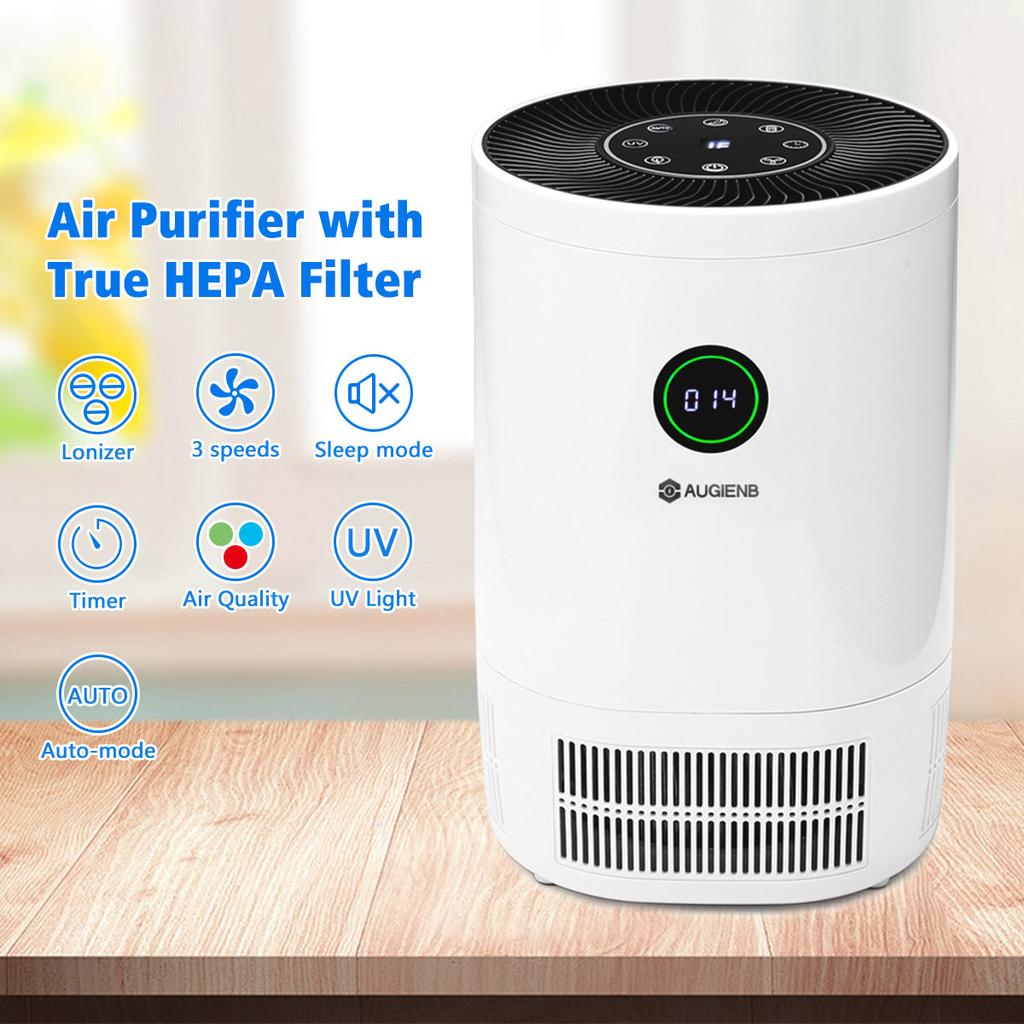 AUGIENB Mini Portable HEPA Air Purifier Cleaner Remove Pm 2.5 For Home Bedroom